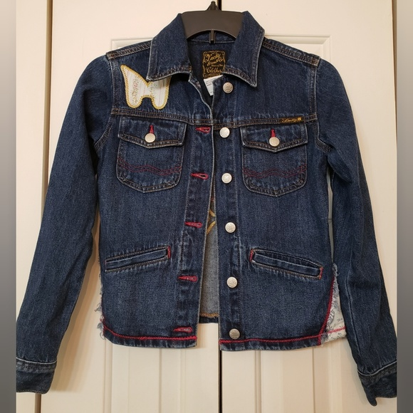 Lucy Other - Lucky Brand Girls Patchwork Denim Jacket 12/14